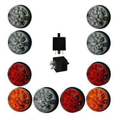 LED Lights (LSL Type) - Upgrade Kit for Land Rover Defender (73mm) - 11pcs
