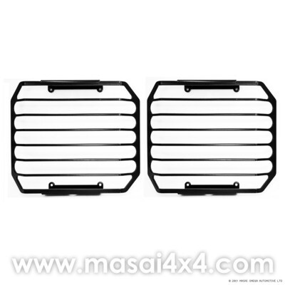 Front Lamp Guards for Land Rover Defender (No Branding) - PAIR