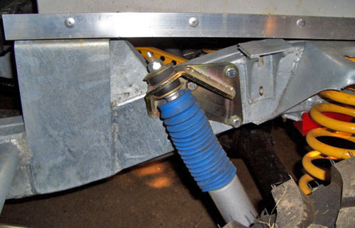 Shock Absorber Mounting Brackets Kit, Top Rear, - For use with Long Travel Terrafirma Shocks for Land Rovers