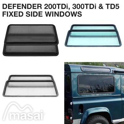 Fixed Side Windows for Defender 200TDi/300TDi & TD5 (3 Tints)