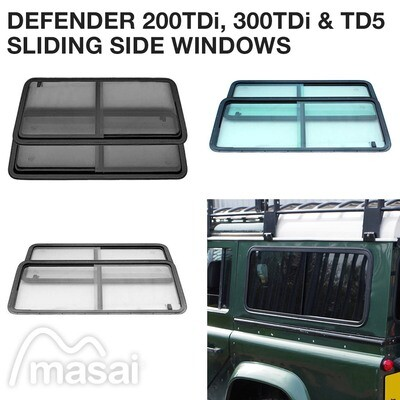 Sliding Side Windows for Defender 200TDi/300TDi and TD5 (3 Tints)