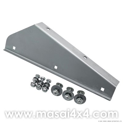 Front Stainless Steel Mudflap Bracket (Pair) for Land Rover 90/110/130