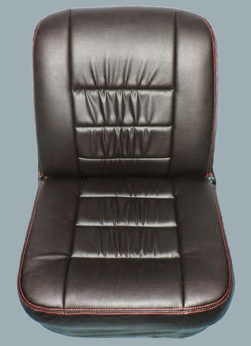 Classic Mini Replacement Seat Covers, Black with Red Stitching, Front and Rear