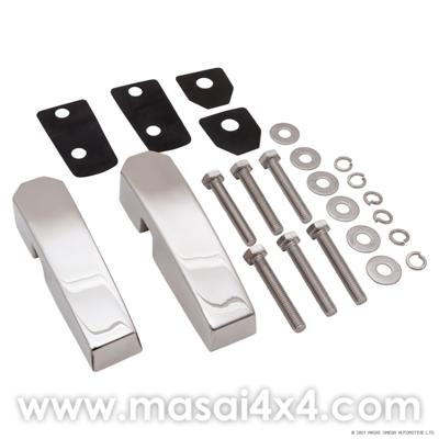 Aluminium Windscreen Brackets (Pair) - Silver, Black or Stainless Steel