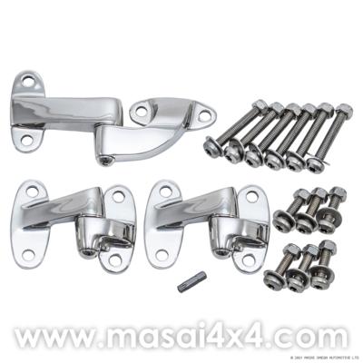 Stainless Steel Rear End Door Hinge Kit
