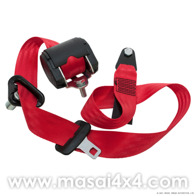 Front Seat Belt Set for Defender Station Wagon(Red)