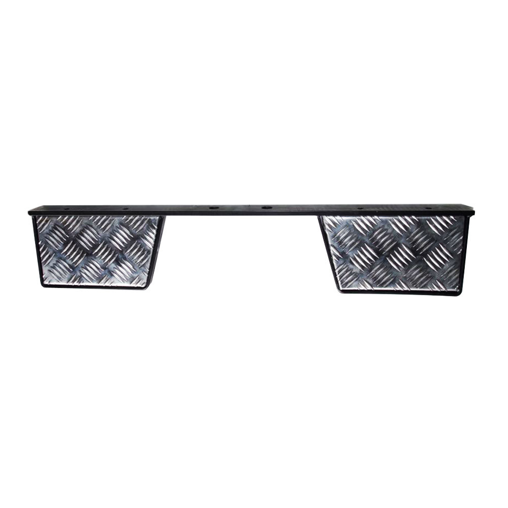 Twin Rear Step for Land Rover Defender - Chequer Plate Masai-OM172B-CHQ