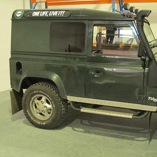 Blind Spot Side Windows (Fixed) for Land Rover Defender 90 / 110 Hard Top / Panel Van - PAIR