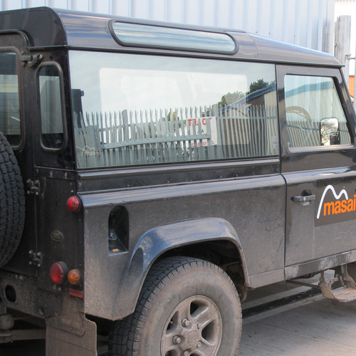 Land Rover Parts: Mirrored, Tinted, Bonded Side Windows For