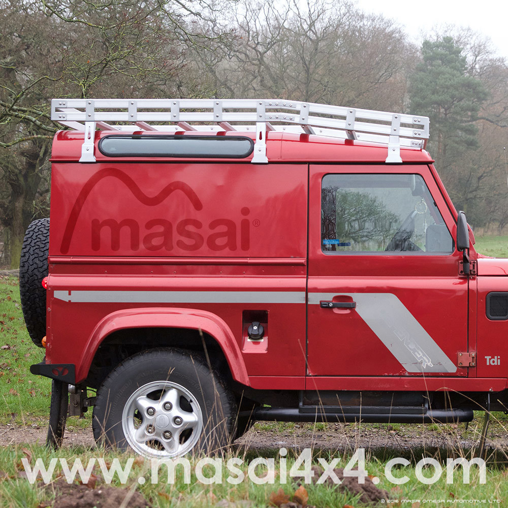 Aluminium Curved Luggage Roof Rack For Land Rover Defender