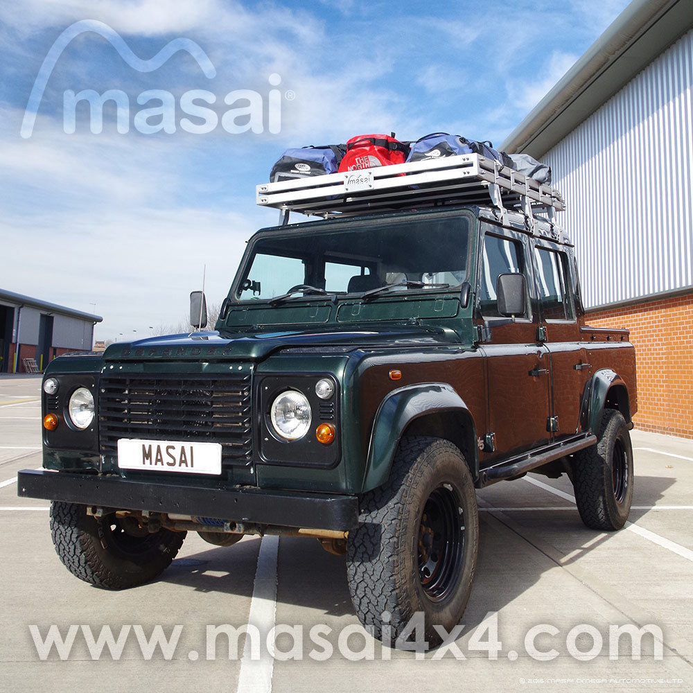 Aluminium Open End Luggage Roof Rack For Land Rover