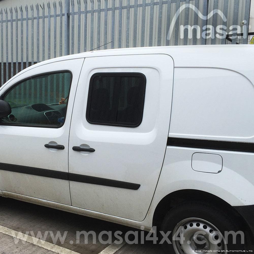Renault Kangoo Side Windows, Slide Opening, Dark-Tinted PAIR
