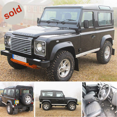 Black 2010 Land Rover Defender XS 90