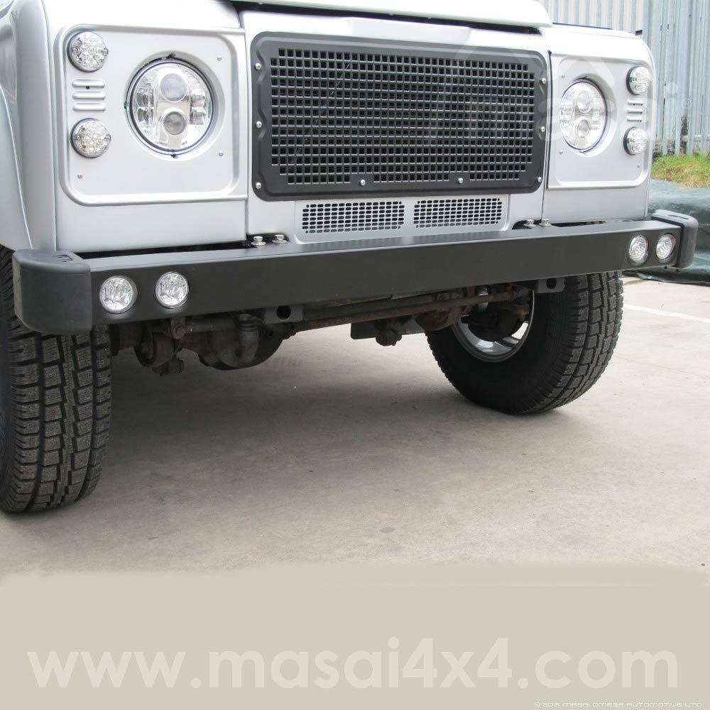 Winch Bumper With Led Lights By Rovers North For Discovery: Stainless Steel Defender Bumper With Running Lights