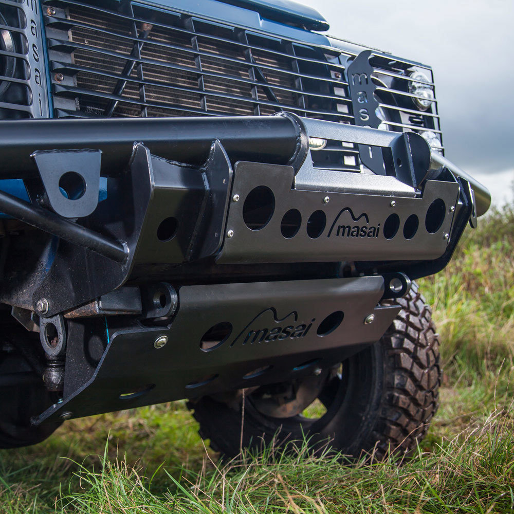 Tubular Winch Bumper for Land Rover Defender (Masai Style)
