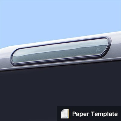 Paper Template - To cut out apertures for Alpine Windows