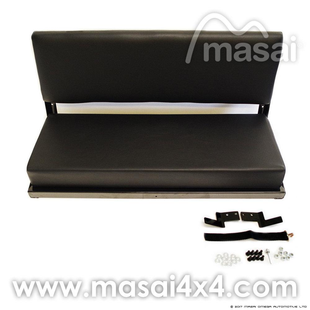 Bench Seat (2 Seater) for Land Rover Defender Series - BLACK Vinyl MASBENCH-BV