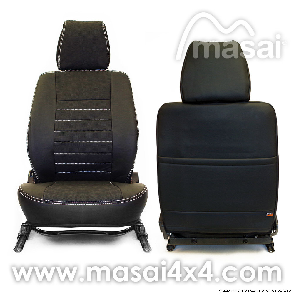 Land Rover Discovery Sport Pair of Front GREY /& BLACK Leatherette Seat Covers