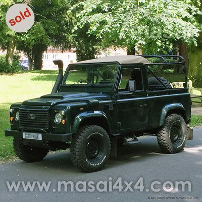 2000 Land Rover Defender 90 TD5 Soft Top 2-Door - Epsom Green - SOLD