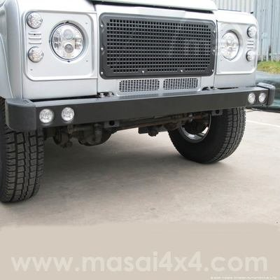 Stainless Steel Defender Bumper with running lights - LR062058