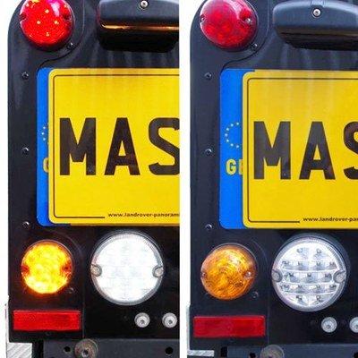 LED Lights (LSL Type) - Upgrade Kit for Land Rover Defender (73mm) - 11pcs