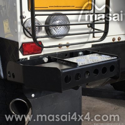 Rear Bumperettes for Land Rover Defender 90 and 110 (Pair)