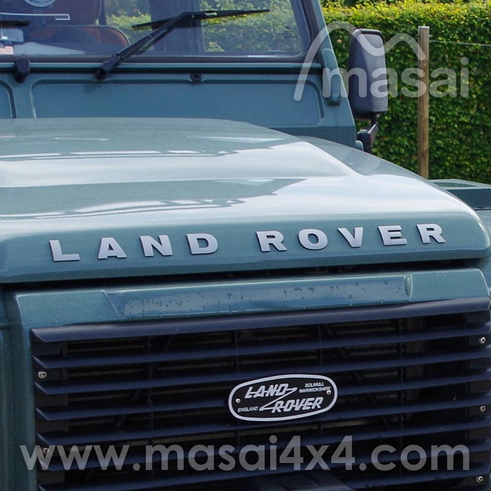 """LAND ROVER"" Bonnet Raised 3D Lettering Decal - Chrome DAB500290/300"