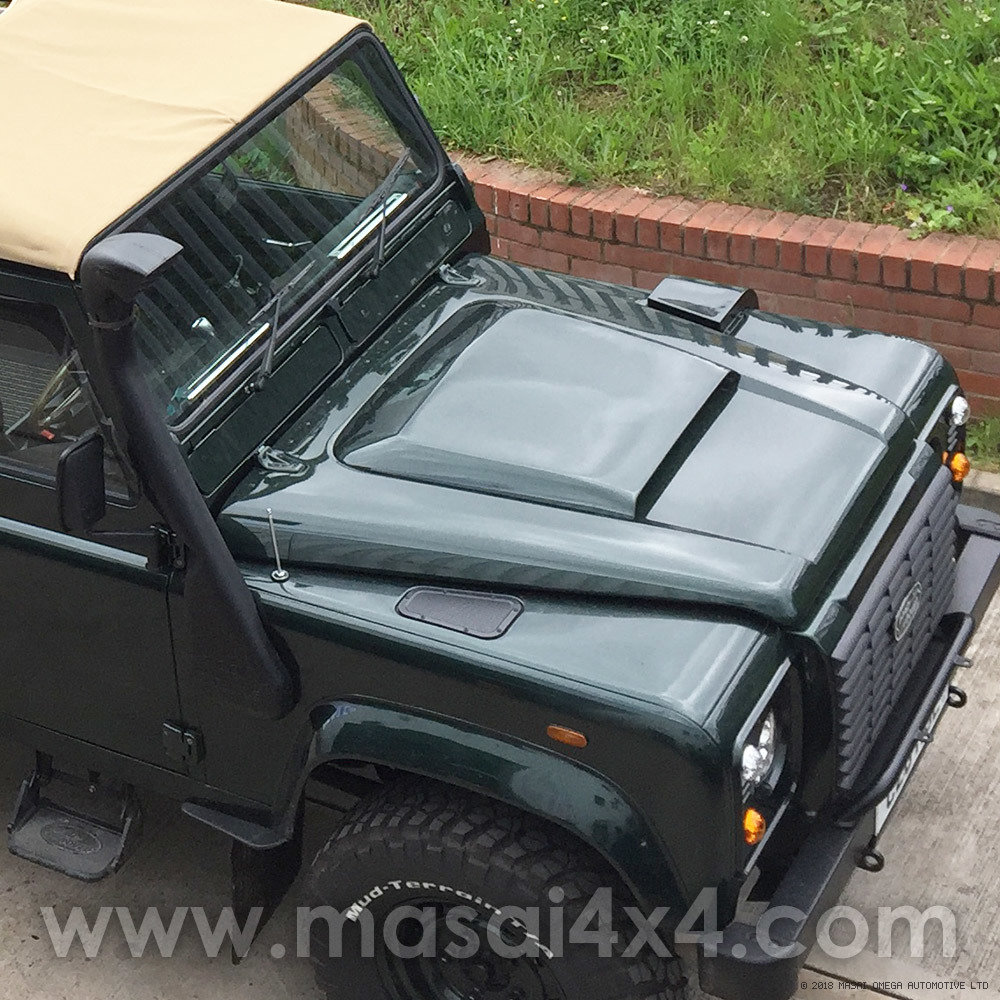 Masai Sport Bonnet Scoop for Land Rover Defender - GRP Fibreglass GRP-TD5-SCOOP-01