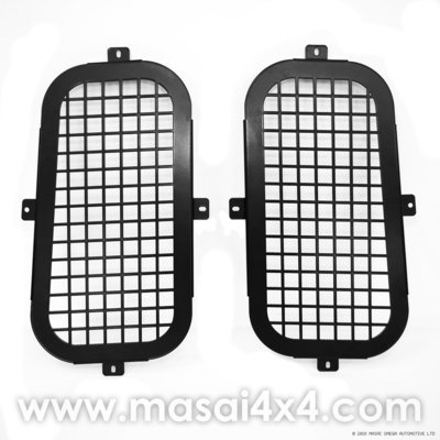 Quarter Glass Window Guards for Land Rover Defender 90/110 - PAIR