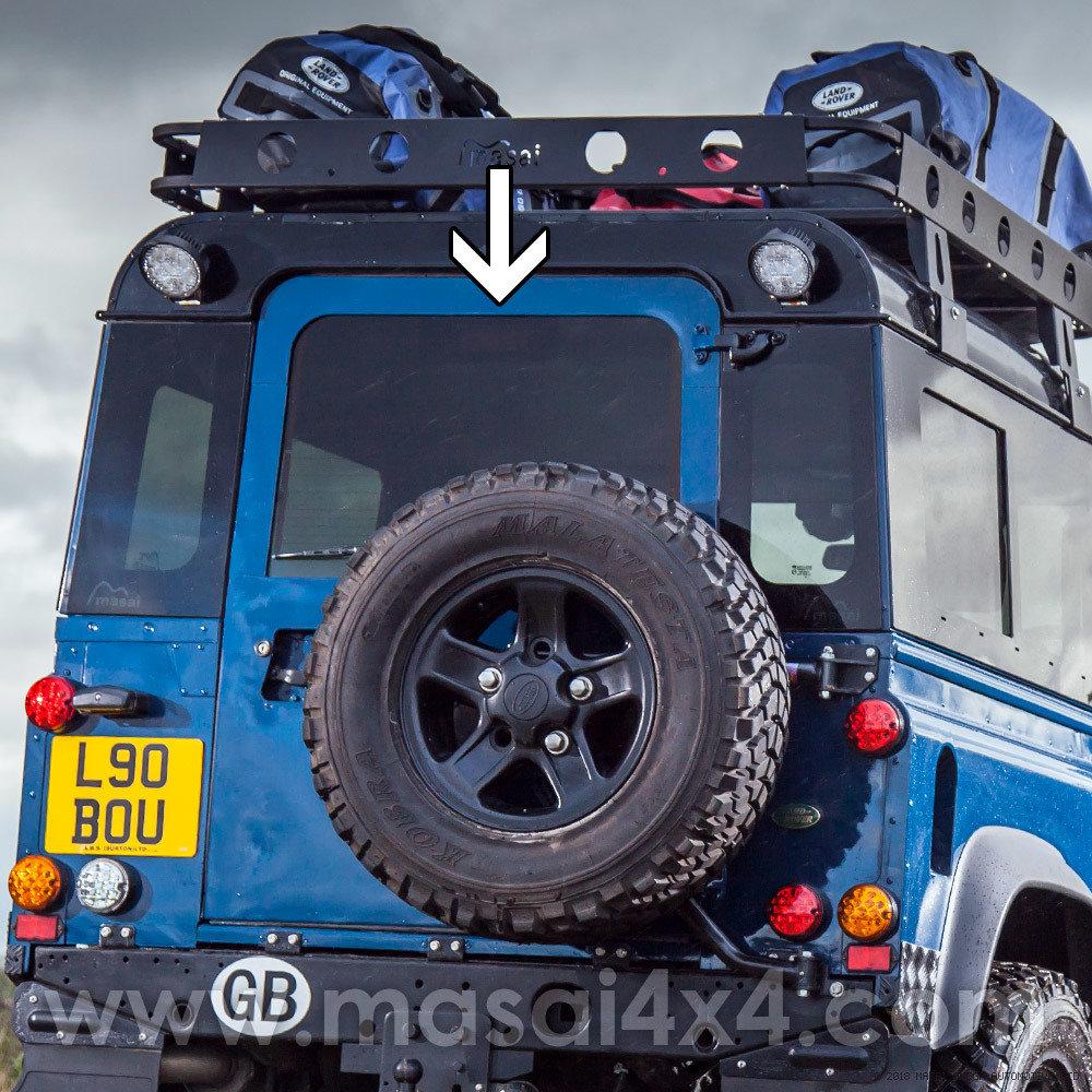 Rear Door Glass - Dark Tinted & Heated for Pre 02' Land Rover Defenders 90/110 - (Bonded) LRD-RDG-PRE2002