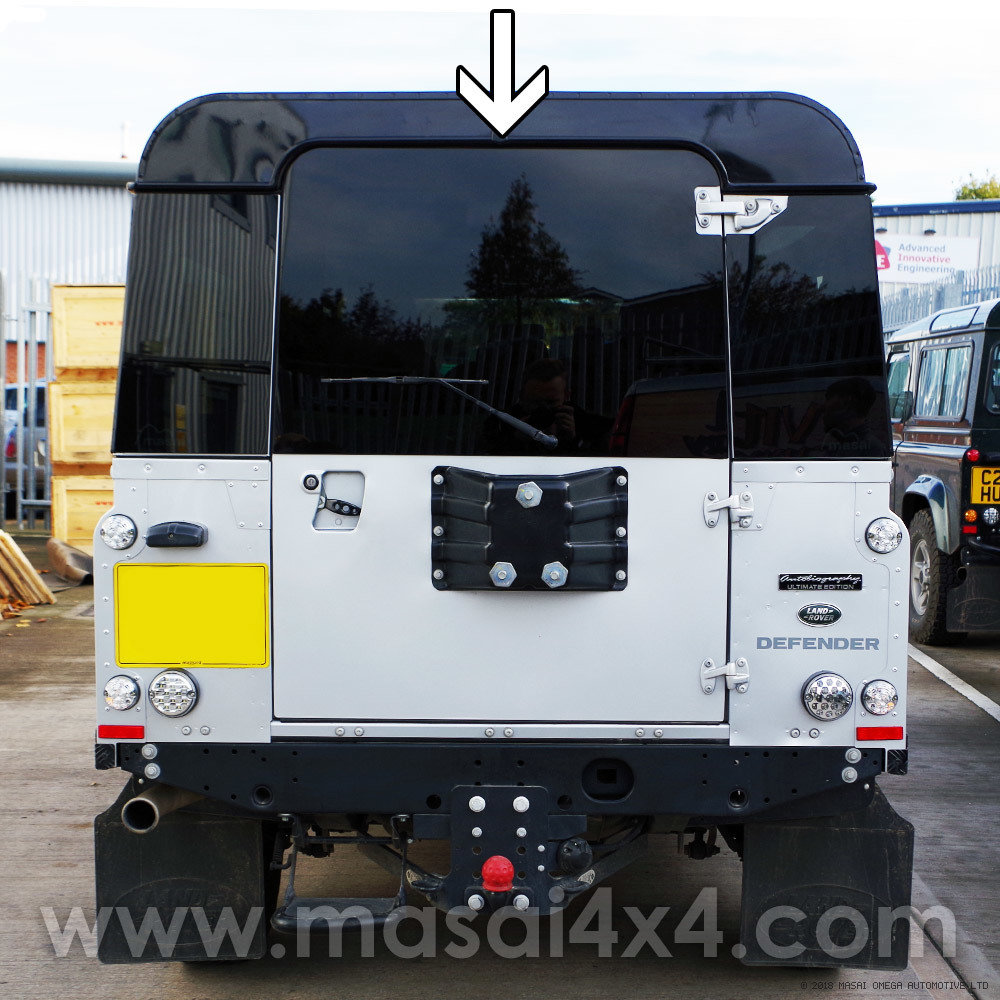 Panoramic Rear Door Glass - Dark Tinted & Heated for Land Rover Defenders 90/110 - (Bonded)