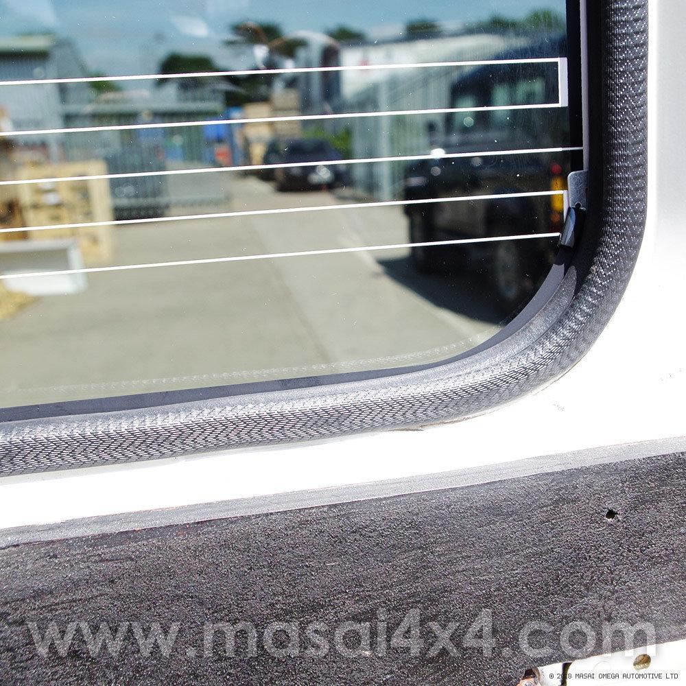 Closeup of inside window trim