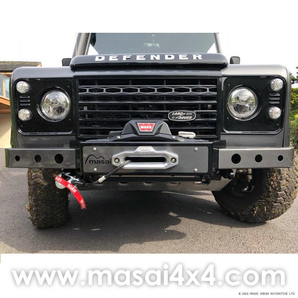 Painted in all black to match Defender!