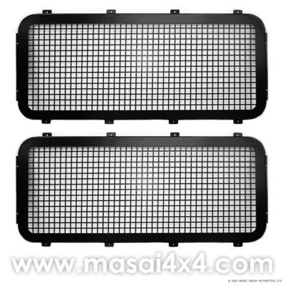 Side Window Guards for Land Rover Defender 90/110 - PAIR