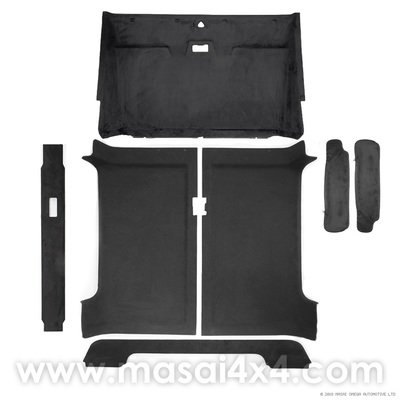 Headlining / Rooflining Kit for Land Rover Defender 90 with Sun Visor Covers