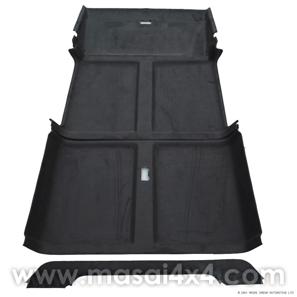 Headlining / Rooflining Kit for Land Rover Defender 110 with Sun Visor Covers RHL110-SW-BLK