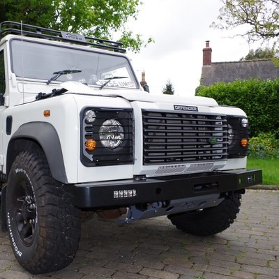 Masai Winch Bumper with LED lights for Land Rover Defender