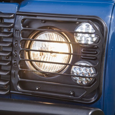 Front Lamp Guards - Masai Style for Land Rover Defender - PAIR
