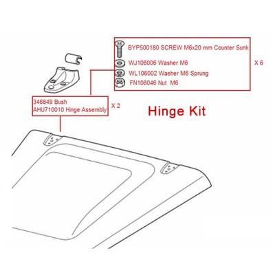 Bonnet Hinge Kit for Land Rover Defender 90/110 (Stainless Steel Bolts)