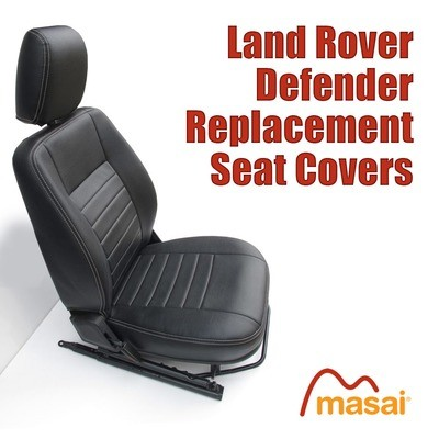 Front Seat Covers for Land Rover Defender TD5, 200TDI & 300TDI - PAIR