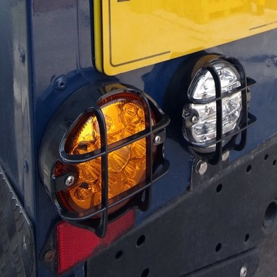 Lamp Guards for NAS Style LED Lights - Land Rover Defender (95mm)