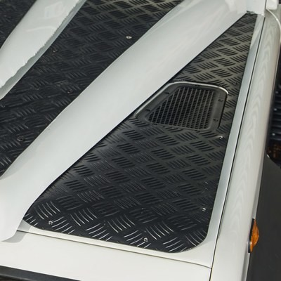 3mm Aluminium Wingtops Chequer Plate for Land Rover Defender