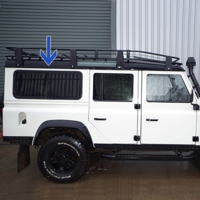 Sliding Side Windows for Defender Puma/TDCi - Dark, Green and Clear Tints