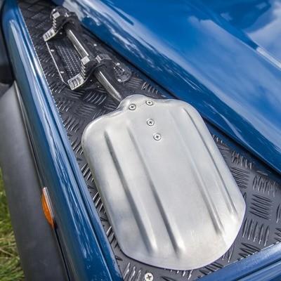 Vehicle Shovel with mounting brackets - aluminium and plastic
