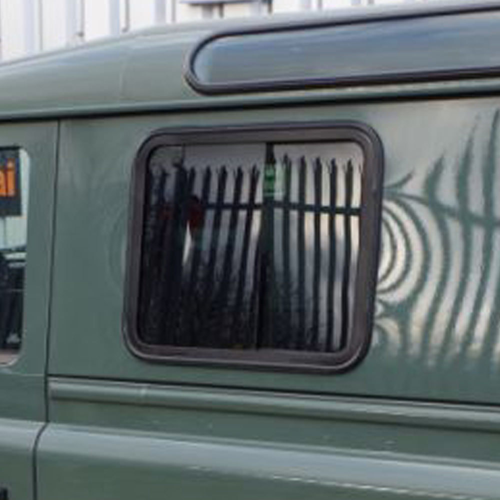 Slide Opening, Dark-Tinted, Blind Spot Side Windows for Land Rover Defender PAIR