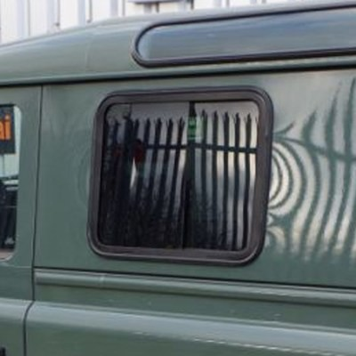 Slide Opening, Dark-Tinted, Blind Spot Side Windows for Land Rover Defender PAIR