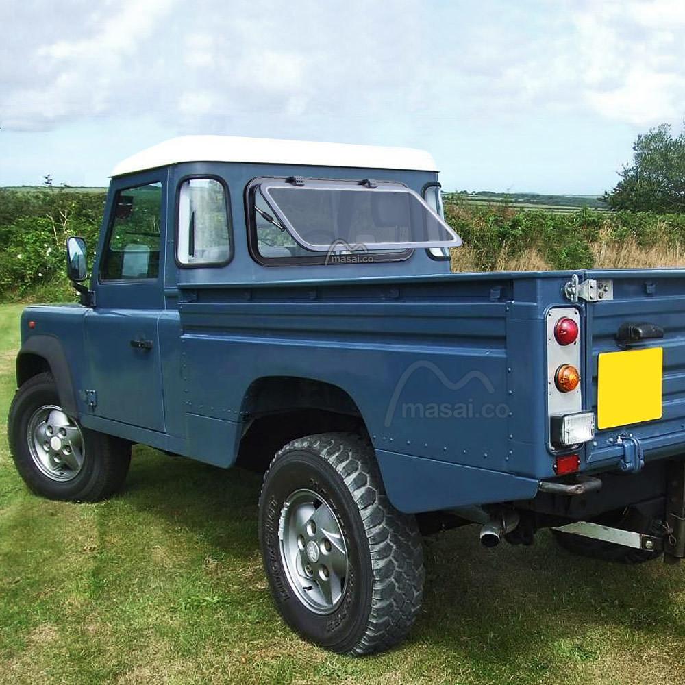 Land Rover Defender Crew Cab Camper-Style Rear Window - 963mm x 419mm - DARK tint