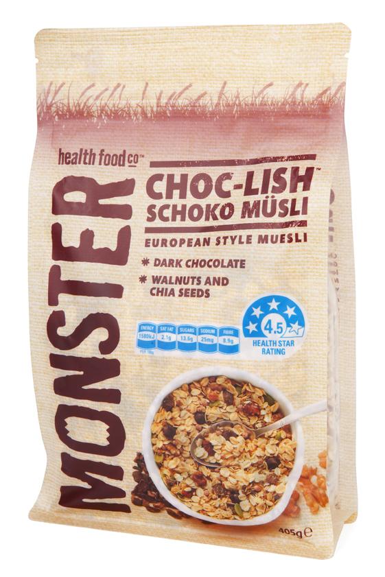Choc-Lish - Chocolate Muesli - 6 x 405g