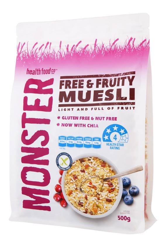 Free & Fruity Muesli - Gluten Free - 6 x 500g