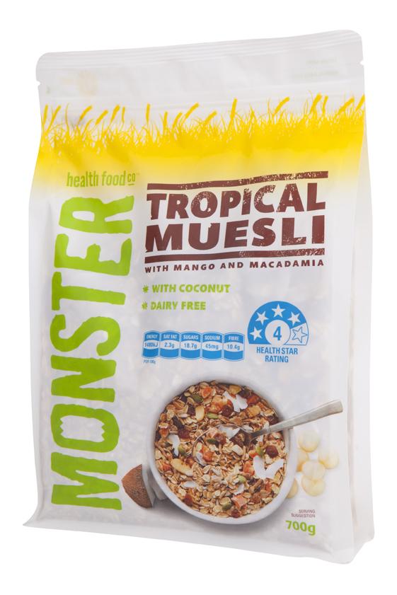 Tropical Muesli - with Mango & Macadamia - 6 x 700g